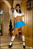 Busty Priya Rai dressed as naughty schoolgirl - picture no. 2